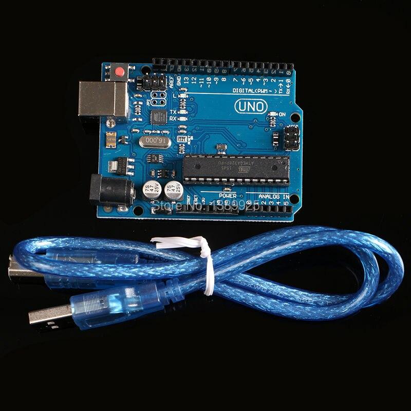 UNO R3 (avec LOGO) MEGA328P ATMEGA16U2 10 set = 10 pcs conseil + 10 pcs câble usb