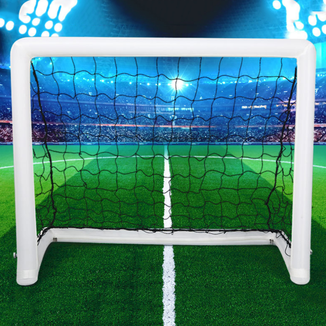 Inflatable Children's Football Gate Kids Soccer Door Goal Folding Portable Ultralight In-and-out Soccer Training Toys folding soccer goal portable child pop up soccer goals for kids sports training backyard playground outdoor sports high quality