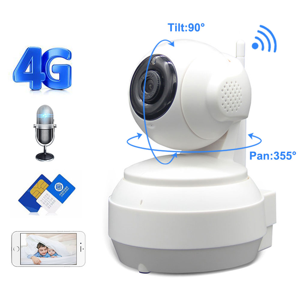 3G 4G Wireless WiFi Camera 1080P 720P HD SIM Card Mobile Home Security Surveillance IP Camera Night Vision Baby Monitor Onvif-in Surveillance Cameras from Security & Protection