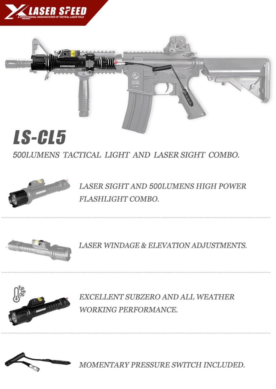 Gun Lanterna Tática Militar Luz + Verde