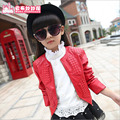 Spring & Autumn Fashion Kids Leather Jacket Girls PU Jacket Children Leather Outwear For Girl Baby Girl Jackets and Coats 5~13 T