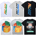 2017 kanye west skate do palácio real tag 1: 1 projeto marca clothing orange camiseta hip hop thrasher tee aptidão das mulheres dos homens TShirt