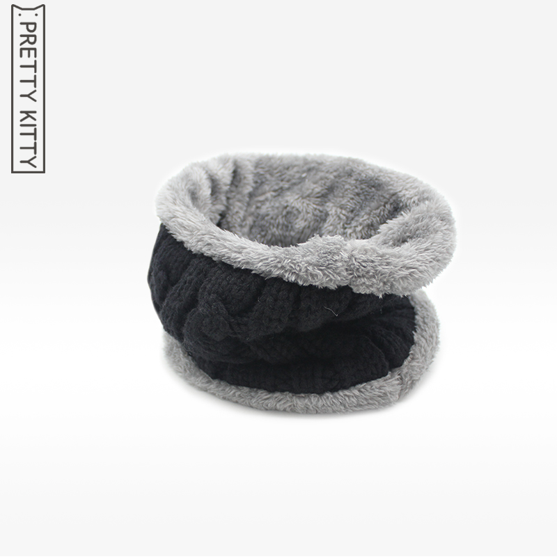 New Fashion Winter men women Scarf Warm Thickened Velvet Cotton Ring Scarf Soft And Comfortable