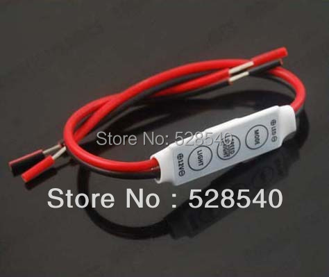 1PCS Single Color led Mini Dimmer 12V 144W for 3528 5050 Led Strip 3 Keys Light Controller LC201
