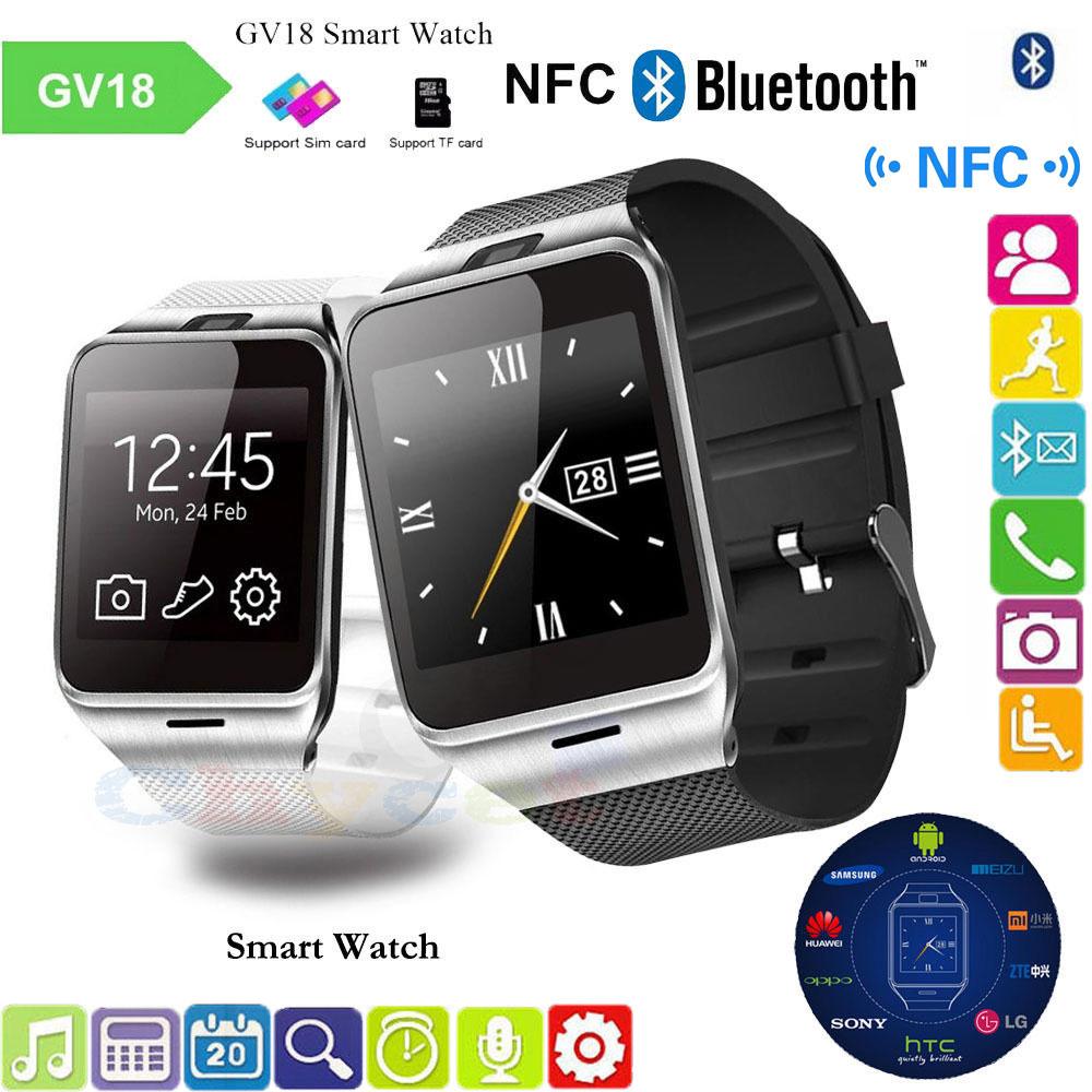 GV18 Astuto Della Vigilanza Aplus Orologio di Sincronizzazione di Notifier Carta di Sostegno Sim Connettività Bluetooth per il Telefono Android Smartwatch Orologio PK U8