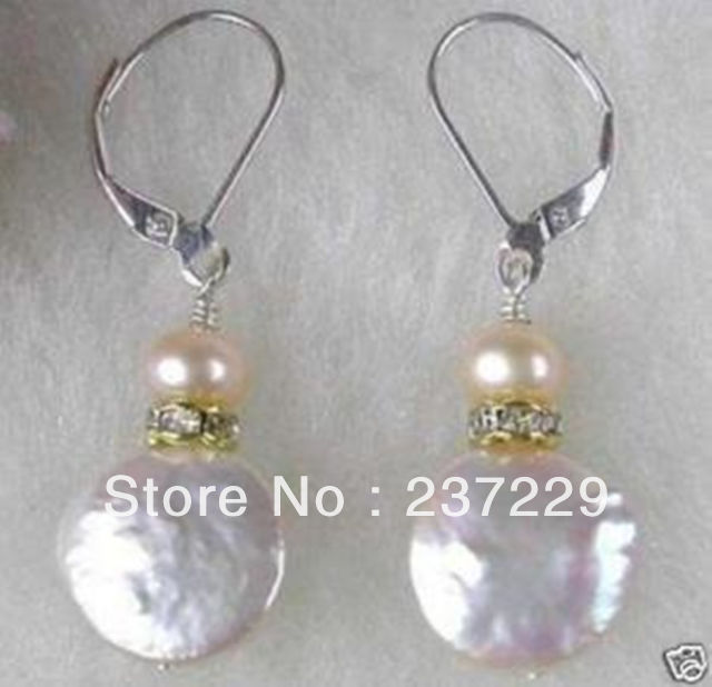Whole Price Free Shipping Details About Beautiful Jewelry White Coin Pearl Earrings In Drop From Accessories On Aliexpress