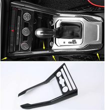 Yimaautotrims Central Control Console Gear Shift Box Cover Trim Fit For Volkswagen T-Roc T Roc 2018 2019 ABS Interior Mouldings yimaautotrims middle control gear shift multimedia cover trim interior mouldings fit for mercedes benz gle w166 2016 2017 2018