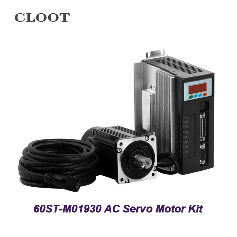 AC Servo Motor 60ST - M01930 Servo Motor Kit 1.91n.m 600W With Driver Cable For CNC Part Tools used 100% tested mcdht3520e ac servo drive mcdht3520e for pan servo driver mcdht3520e