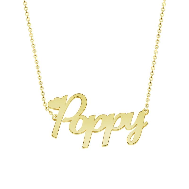 c1981dbf95fe Comprar Nombre personalizado de oro gargantilla Placa de collar para las  mujeres joyería de acero inoxidable Bijoux Femme
