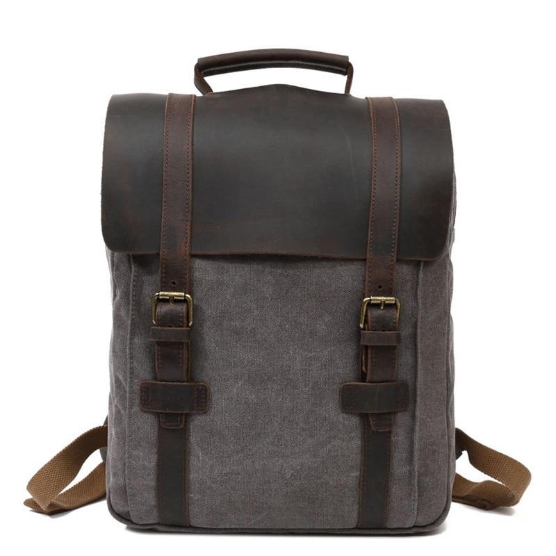 Retro Men Laptop String Backpack School Bag Travelling Casual Back Pack Drawstring Backpacks for Boy deanfun drawstring bag space pattern fashion for men travelling 60118