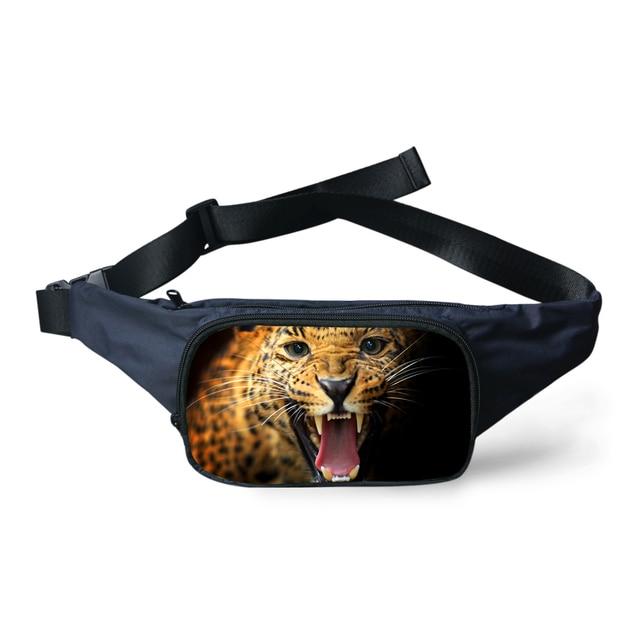 Alta 3D Animais Leopardo Tigre Impressão Coruja Pacotes de Cintura Portátil Saco Da Cintura Fanny Saco Cinto Pacote de Quadril Das Mulheres Senhora Meninas bumbag
