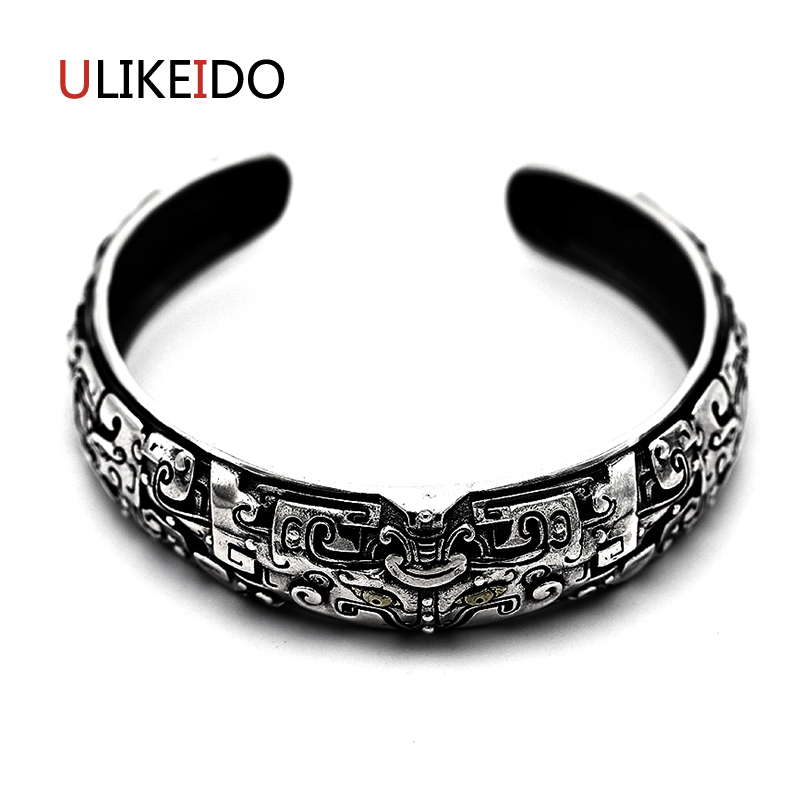 Pure 925 Sterling Silver Bangle Gluttony Fashion Vintage Hand Chain For Men And Women Opening Jewelry Thai Silver Charm 473 emith fla authentic 925 sterling silver bangle opening ladies bracelet fashion jewelry for women vintage silver bracelets