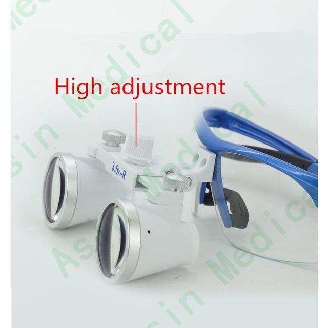 2016 Dental Oral Care Dental equipamento Dental 3.5 vezes de alta-definição óculos de zoom head light LUZ oral Asin