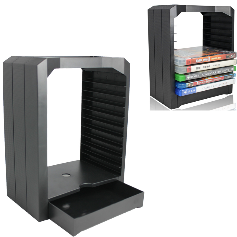 PS4 Universal Games Disc Storage Tower 10 CD Stand holder Store for Xbox One Playstation 4 PS4 Slim Pro PS 4 Gaming Accessories