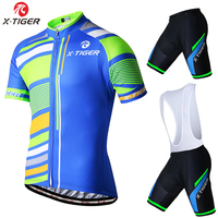 X Tiger Summer Short Sleeve Cycling Set Ropa Ciclismo 2017 Mountain Bike Clothing Breathable Mans Bicycle
