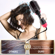 Professional Hair Dryer Brush 2 In 1 Hair Straightener Curler Comb Electric Blow Dryer With Comb