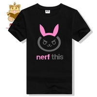 Hot Ow Game T Shirts OW DVA T SHIRTS Dva Nerf This Hana Song Daily Wear