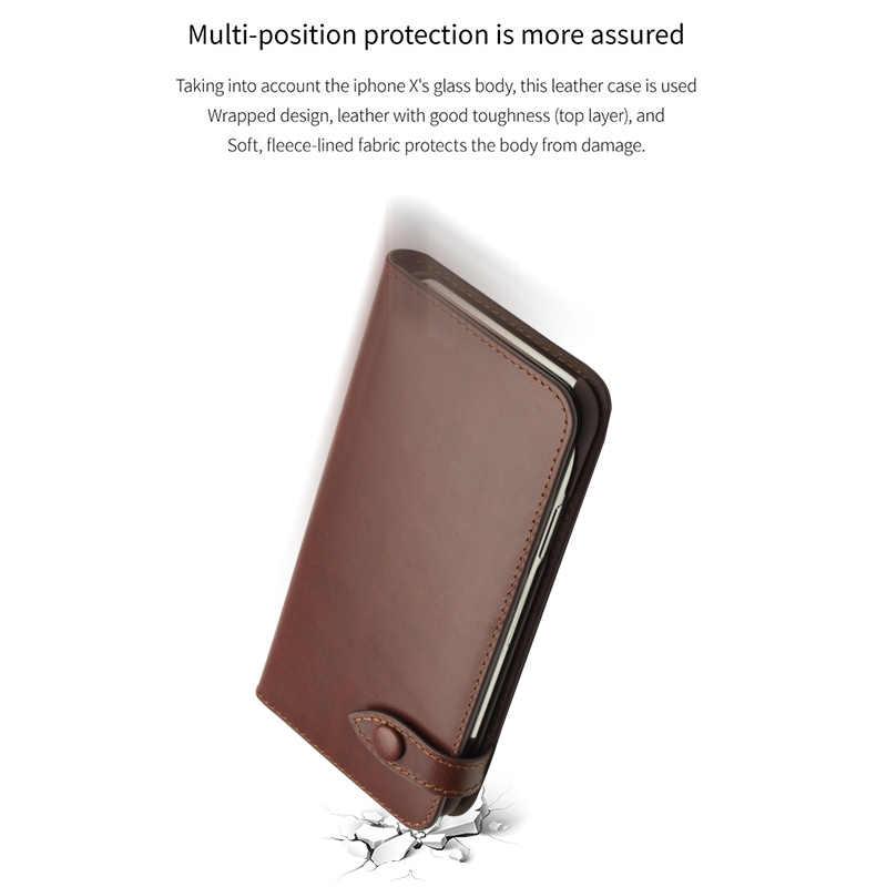 QIALINO из натуральной кожи кошелек чехол для телефона для samsung Galaxy S9 Plus роскошный мех слот карты Ультратонкий чехол с откидной крышкой для samsung S9