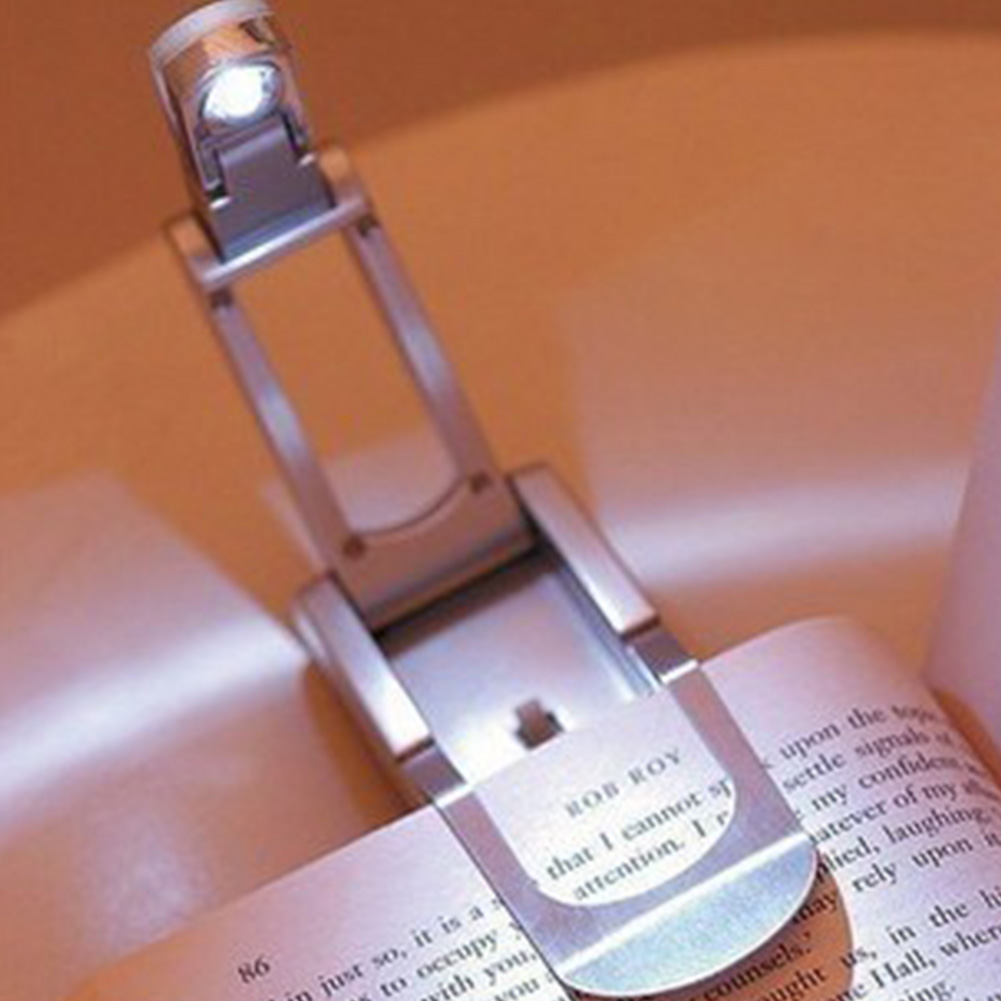 Automatic night lights decorative - New In Mini Portable Led Foldable Book Reading Clip Energy Saving Lamp Automatic Night Light For Reading