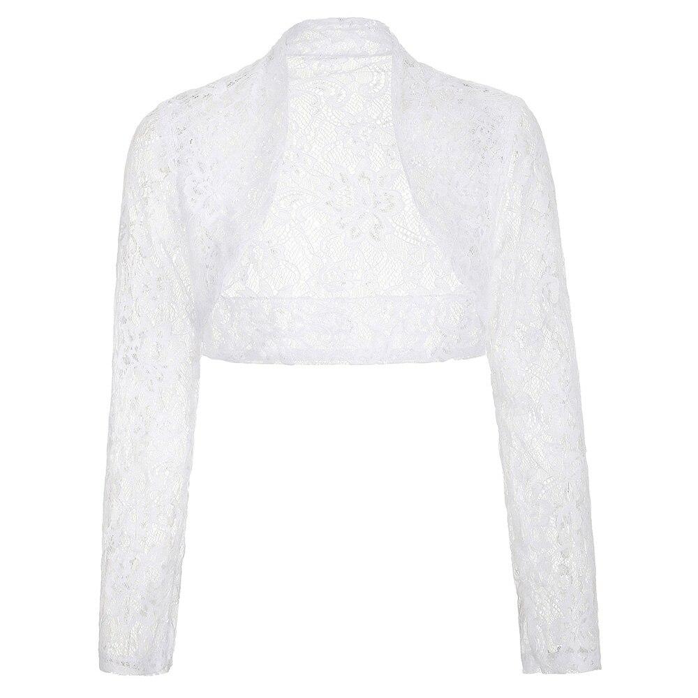 белое кружево свадебное болеро остановить поиски женщин дамы с длинным рукавом куртки плюс размер свадебные обертывания пожав плечами свадебные аксессуары для свадьбы
