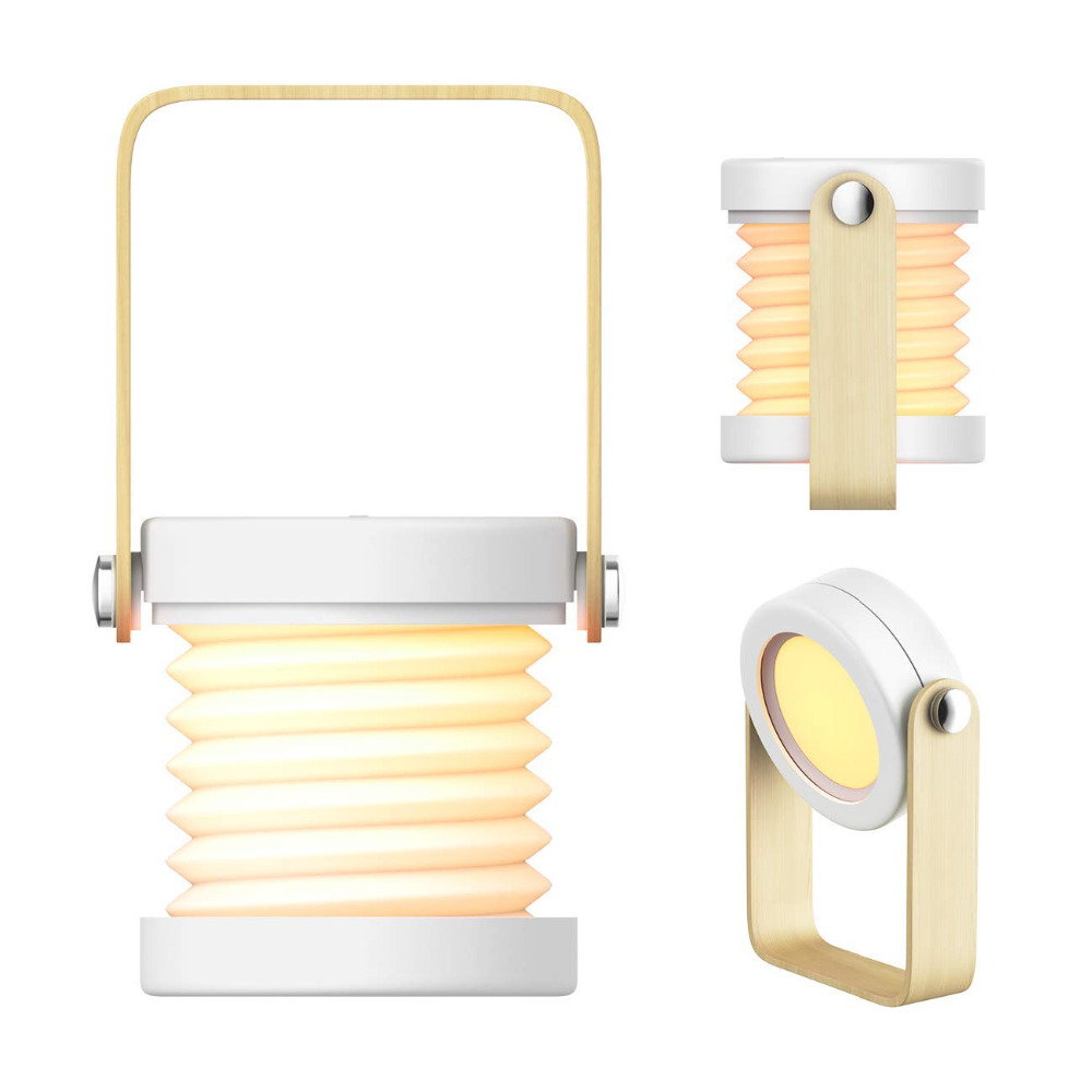 Portable LED Table Lamp Folding Desk Lamp Chargeable Lantern Lights Collapsible Lantern Touch Sensor Bed Lamp for Night Reading