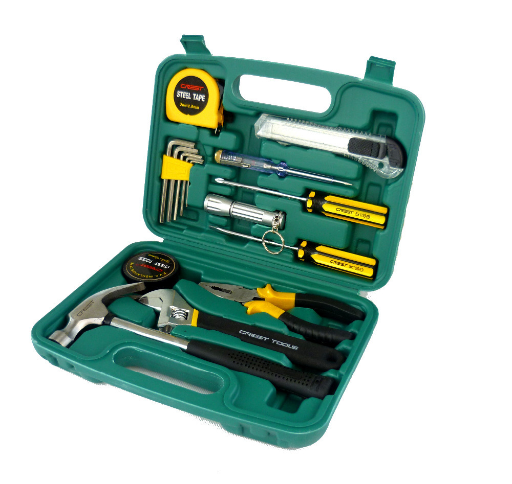 ФОТО G  T 16PC Tool Case & Chest Auto Home Repair Kit Metric- Lifetime Warranty 011016B R