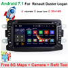 Quad Core Pure Android 7 11 GPS Navigator Radio For Dacia Renault Duster Logan Sandero Car