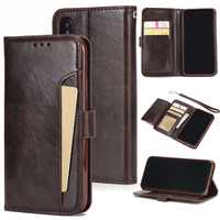 Luxury Leather case for iPhone 5 5S SE 6 7 8 Plus X Case Wallet Flip Case For iPhone Xs XR Xs Max Card Slots Phone Cover Coque