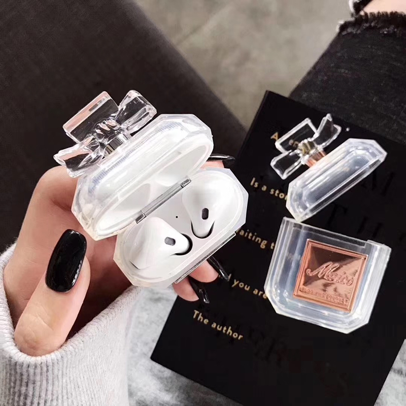 Image 3 - Luxury brand perfume bottle metal transparent silicone case For Airpods Bluetooth Charging Bag Earphone Headset Box Accessories-in Earphone Accessories from Consumer Electronics