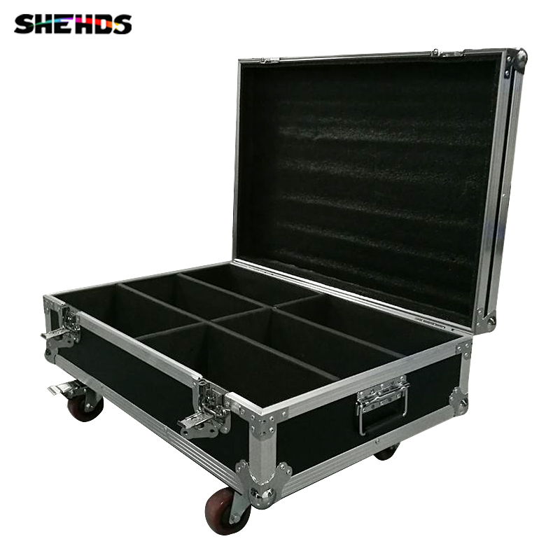 Flight Case with 2/4/6 pieces 2eyes 200W LED COB Blinder Cool White + Warm White Lighting for Disco KTV Party,SHEHDS
