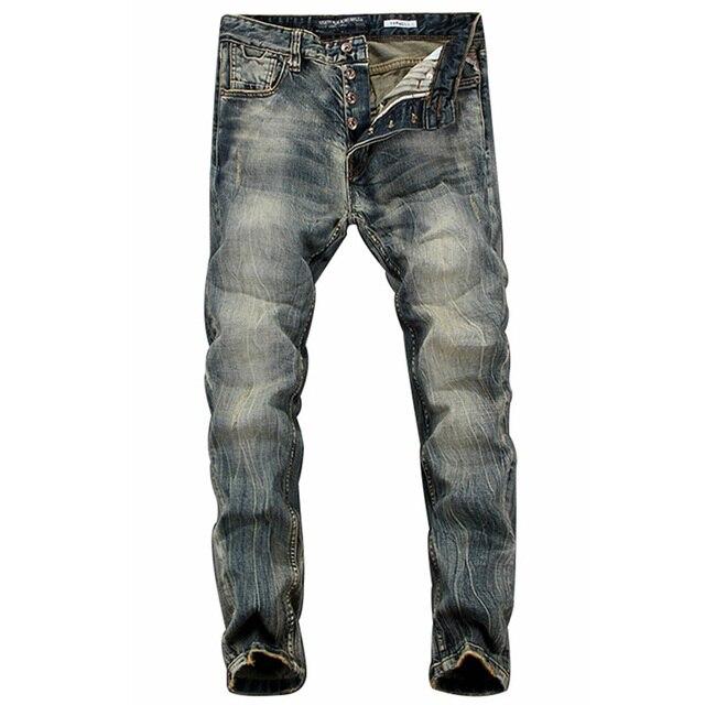 Vintage Men Dark Grey Denim Jeans fMZUJZ