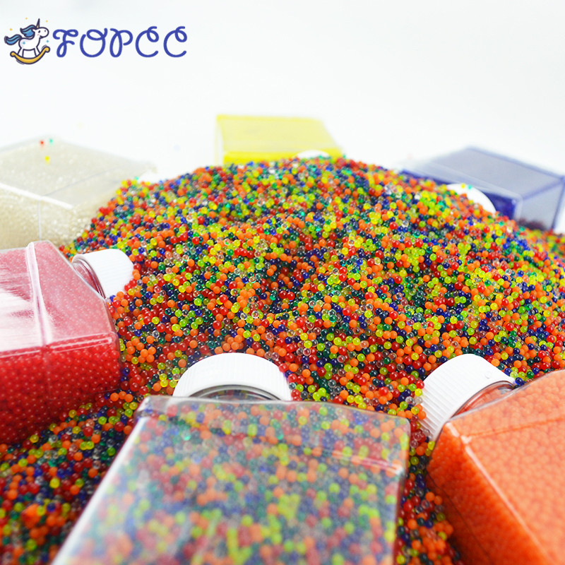 5000 10000 20000 PCS seven colors Orbeez soft crystal water gun color bullets bullets drops water guns gifts for children 7-9mm chic multilayered geometric bullets choker