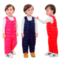 Hot Sale 2016 Baby Girls Boys Winter Pants Warm Outdoor Children Down Siamese Trousers Windproof Infant Kids Jumpsuit