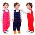 Venda quente 2016 Meninos Das Meninas Do Bebê Inverno Calças Quentes Calças Siameses Das Crianças Ao Ar Livre Para Baixo À Prova de Vento Infantil Crianças Jumpsuit