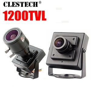 17hot Metal Mini Hd 1/3cmos Real 1200TVL Cctv MINI Camera 3.6mm LENS Security Surveillance Color INdoor Home Video have Bracket