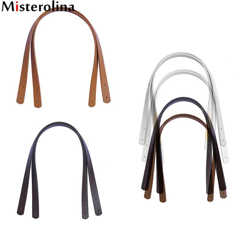 где купить 2pcs/lot Women Girls Detachable PU Leather Bag Strap Belt Handles Shoulder Bag Accessories Belts for Handbag Band 55cm H00195 по лучшей цене