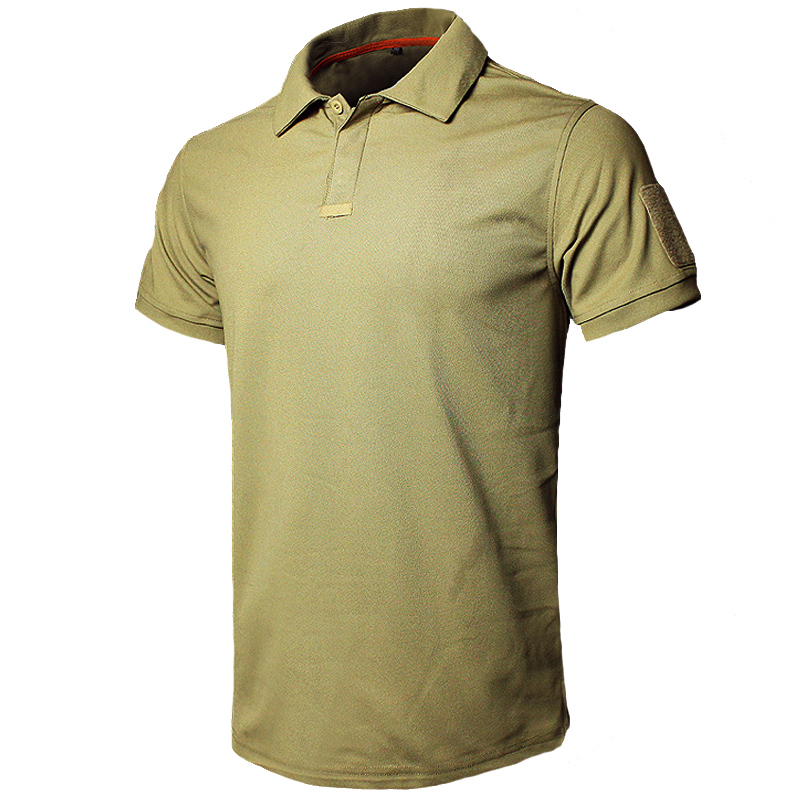 MEGE Dropshipping Men Polo Shirt Summer Tactical Air Force Casual Military Army Short Shirt Tee Polos Para Hombre Camisa Polo