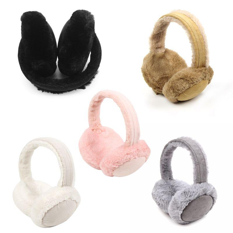 Fashion Women Girl Fur Winter Ear Warmer Earmuffs Cat Ear Muffs Earlap Glitter Sequin Earmuffs Headband