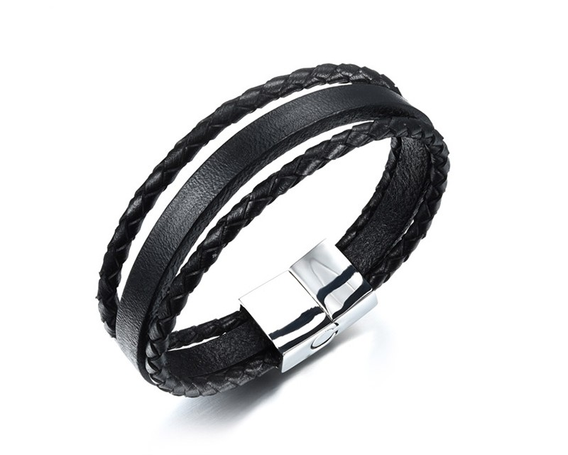 HTB1XityKFXXXXcIXFXXq6xXFXXXN - Casual Braided and Smooth Leather Style Bracelet