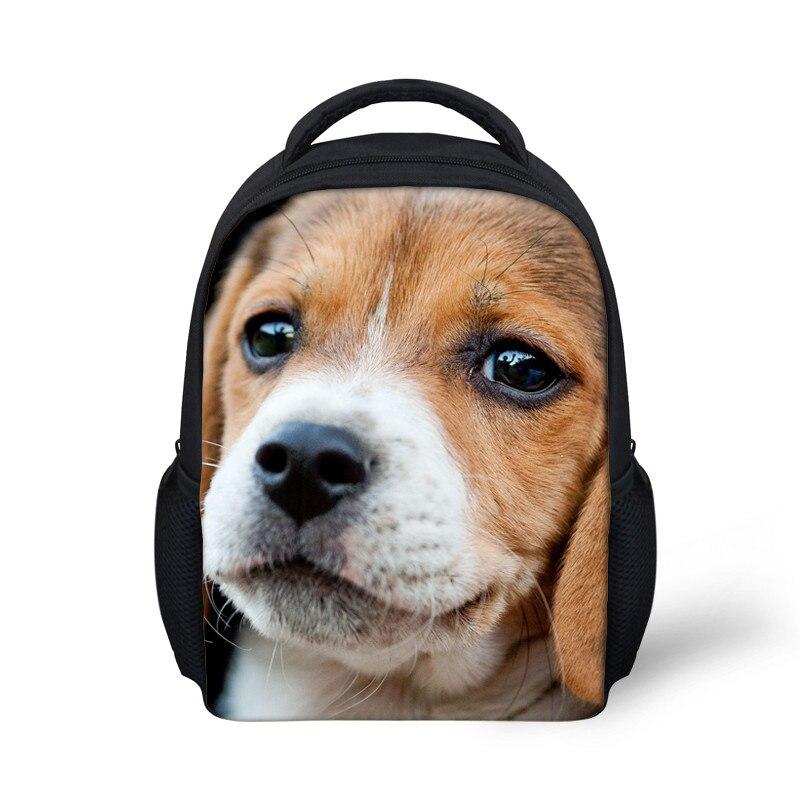 Baby Kindergarten Backpack Kids 3D Beagle Dog Print School Bags Bagpack Children Small Book Bag Cute Satchel