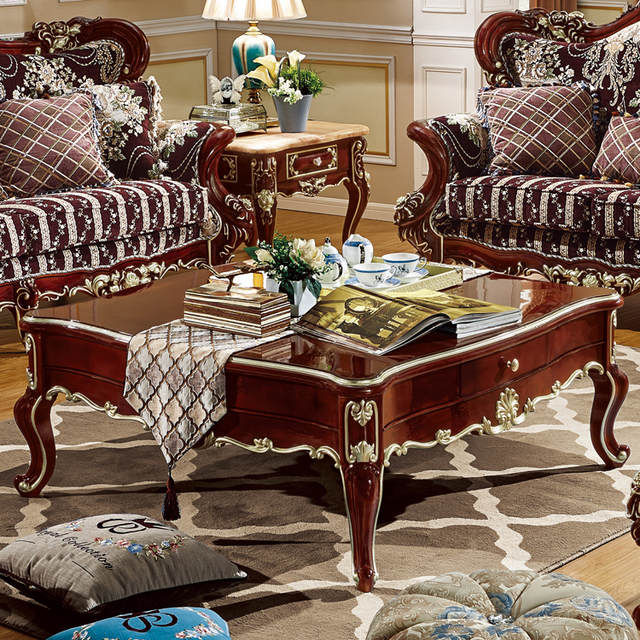 US $670.0  Wholesale used modern design cheap living room sofa center table  design 6012-in Living Room Sets from Furniture on AliExpress
