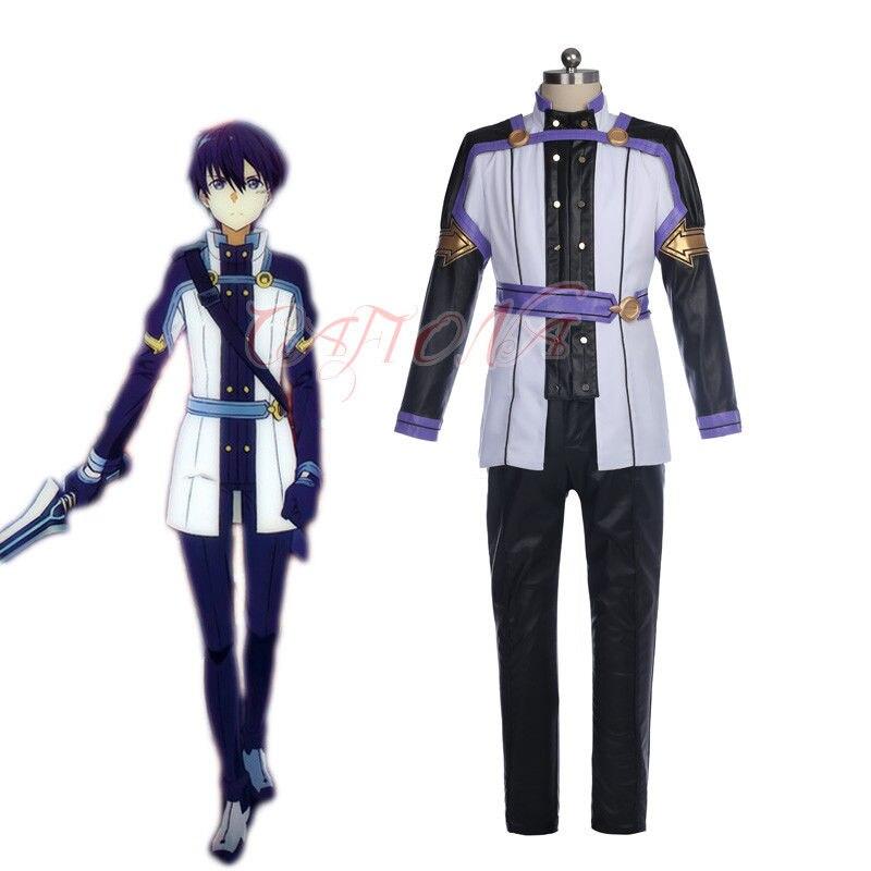 Cafiona Sword Art Online Kirito Kazuto Kirigay костюм для косплея крутой человек, костюмы для боев любого размера