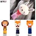 KAWOO Adorável PP Algodão Dos Desenhos Animados Crianças Car Seat Cover Belt Ombreiras Cinto de segurança Criança Travesseiro Auto Estofamento 23*50 cm