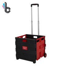 Folding Portable Cart Two-Wheeled Collapsible Handcart with Rolling Rubber Tires