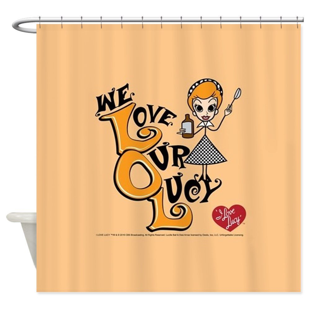 We Love Our Lucy - Decorative Fabric Shower Curtain (69x70)