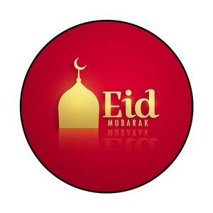 Image 3 - 80CM musulman Eid moubarak tapis 3D imprimé anti dérapant tapis de sol tapis islamique arabe Ramadan boussole tapis de prière Eid fête fournitures