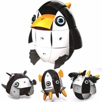 90Pcs 3D Magnetic Puzzle Deformation Penguin Jigsaw Transformation Wisdom Ball Puzzle Educational Funny Toys Gifts For