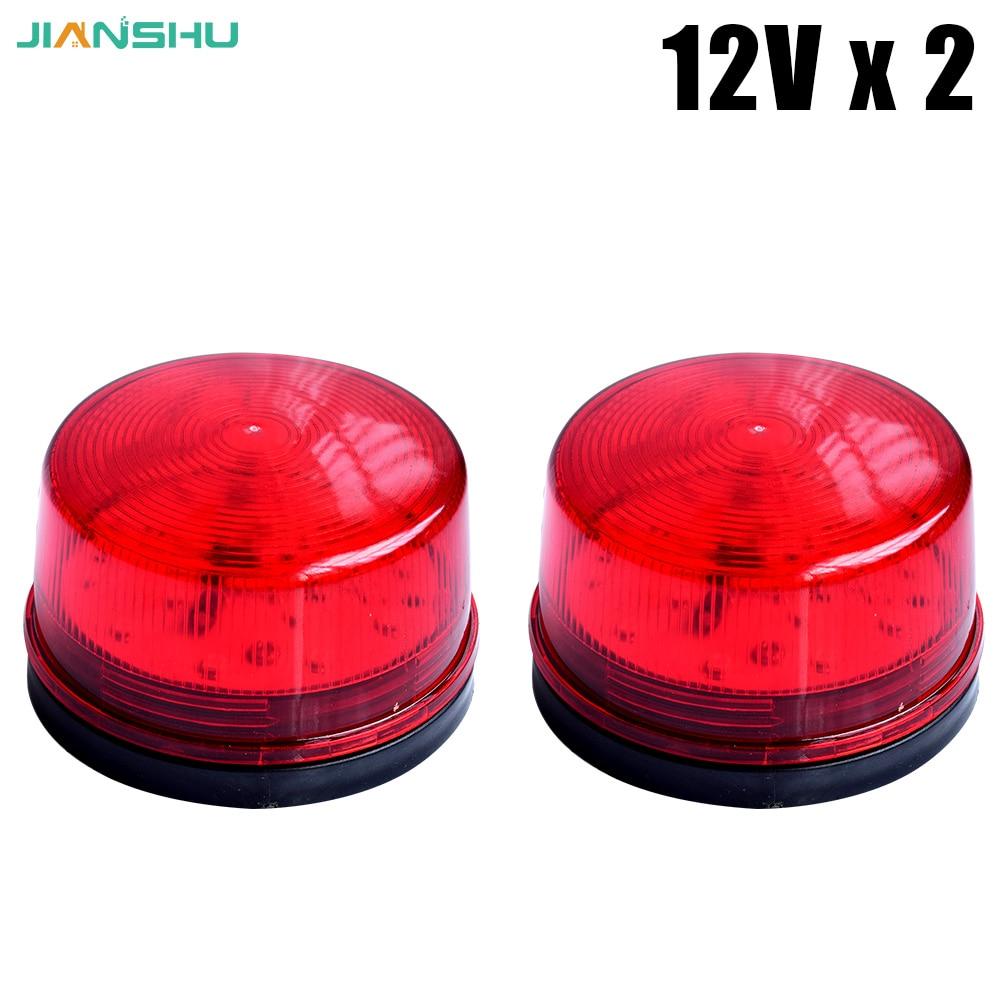 Red LED Flash Lamp 12V Security Light Alarm Strobe Warning Alert Lamp Singal 12V 24V 220V For Home Security  12v 24v security