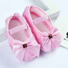 hot deal buy baby girls shoes 2018 bow children baby girls shoes noble bow flower princess shoes infant soft sole shoes 0-18m 2017