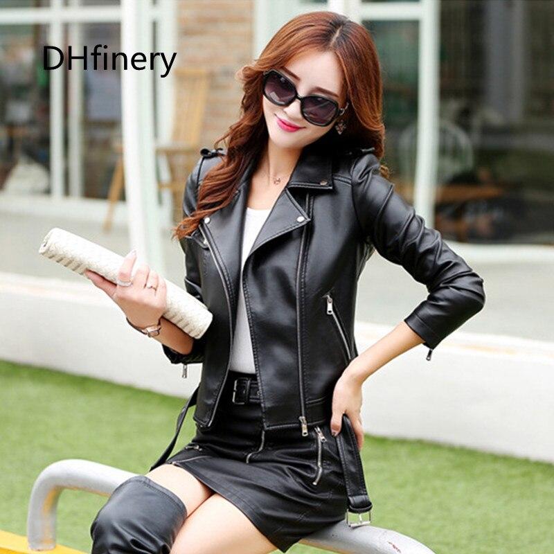 kožená bunda dámská jarní a podzimní rozepínací límec kožený kabát dámský krátký design štíhlý kabát plus velikost 3XL černá, červená k6603